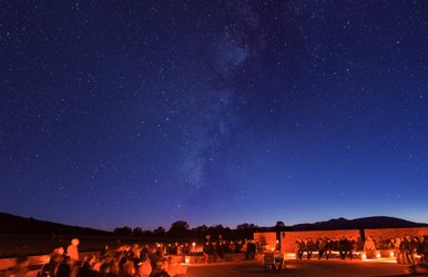 A starry night at the McDonald Observatory.
