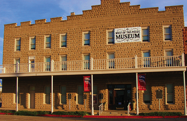 West of the Pecos Museum -- a red brick building